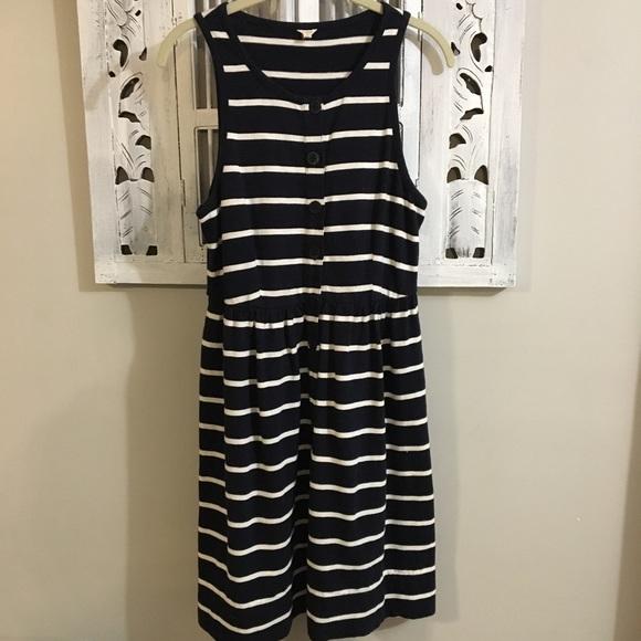 J. Crew Dresses & Skirts - J. Crew knit striped button up tank dress